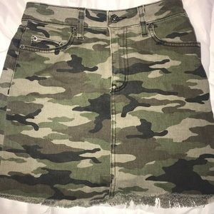 LF Denim Camo Skirt